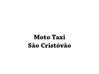 Moto Taxi São Cristóvão