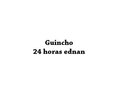 Guincho 24 horas ednan