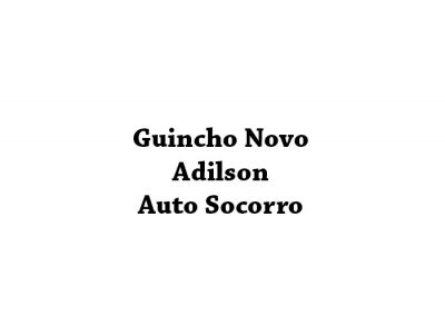 Guincho Novo Adilson   Auto Socorro