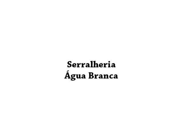 Serralheria Água Branca