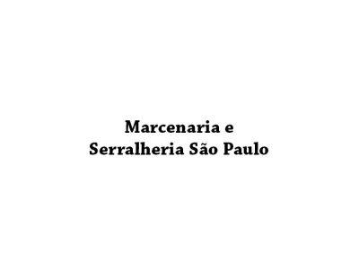 Marcenaria e Serralheria São Paulo